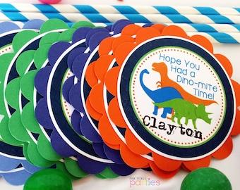 Dinosaur Favor Tags, Dinosaur Favor Stickers, Dinosaur Tag, Dinosaur Sticker, Dinosaur Birthday Favor | 416
