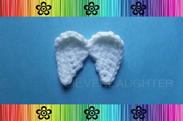 Angel Wings Applique Crochet Pattern Pdf From Everlaughter On