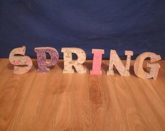 Spring decor, Spring, wooden letters- spring home decor, seasonal wood letters, spring decorations