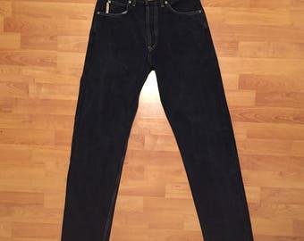 Quiksilver QSD Denim Jeans Vintage Surfwear 90s Surfing Blue Mens 31 - 79cm