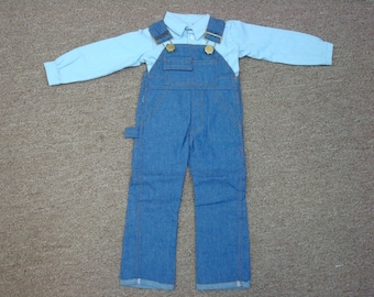 """Grandpa Doll 24"""" Overalls & Shirt Outfit"""