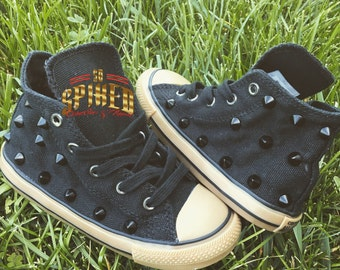 Color matching studded converse with gum soles (kid/adult)