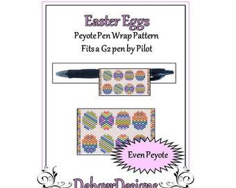 Bead Pattern Peyote(Pen Wrap/Cover)-Easter Eggs