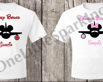 Disney Bound / Disney kid shirt / disney matching shirts / mickey plane minnie plane disney vacation shirt