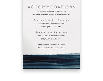 Navy Enclosure Card/Wedding Invitation Suite/Wedding Invites/Invitation Suites/Dark/Romantic/Blue/Evening/Elegant/Luxury/Beach