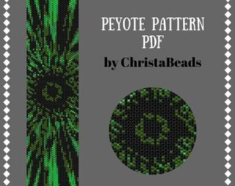 Peyote Bracelet Pattern Abstract Peyote Bead Pattern Seed bead pattern Beading patterns PDF Beadwork pattern Cuff bracelet Peyote Stitch