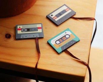 Long Tail Cassette Tape Magnetic Bookmark