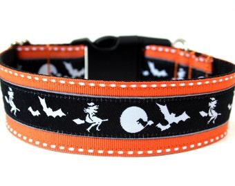 """Halloween Dog Collar 1.5"""" Large Dog Collar"""