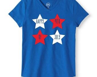 Girls Fourth of July Shirt