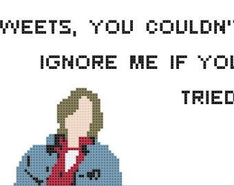 PDF PATTERN Sweets you couldn't ignore me if you tried Breakfast Club cross stitch