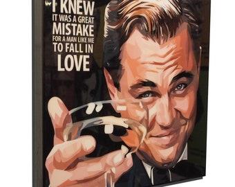 Leonardo DiCaprio The Great Gatsby Art Poster Painting Print Photo Movie Film