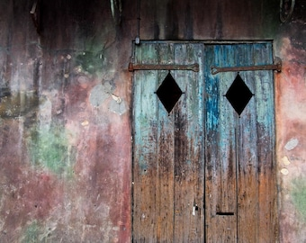 New Orleans French Quarter Wall and Doors Photograph Print
