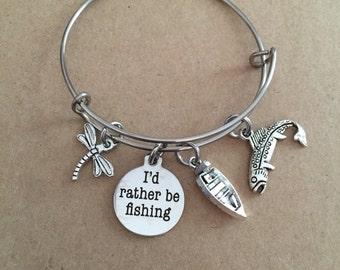 I'd Rather Be Fishing Bangle