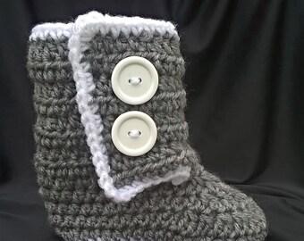 Crocheted Slipper Boots
