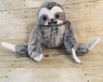 Cuddly soft sloth plush animal-stuffed animal-sloth-fur sloth-plush toy-toy-hanging sloth-cuddle toy-soft toy