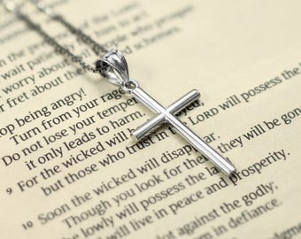 Silver Cross Necklace Pendant