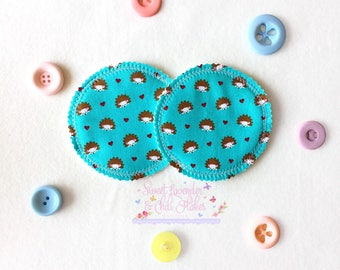 Washable/ Reusable Handmade Nursing Pads. Very Comfortable and Gentle on mothers' sensitive Skin. Pair of 2 Pads