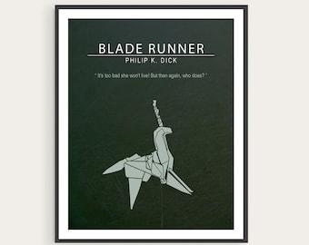 Blade Runner, Philip K. Dick, Ridley Scott, Minimal Movie Poster.
