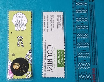Yarn Label Bookmark: Caron Country