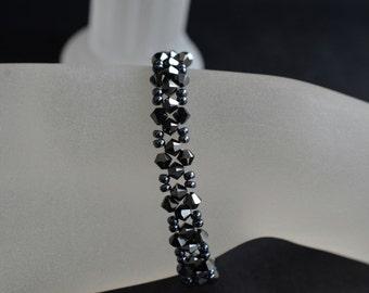 Swarovski crystal bracelet hematite 2x color.