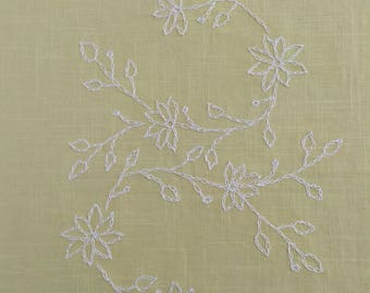 Linen Tablecloth Hand Embroidered Tablecloth Embroidered Table Cloth Table Linen