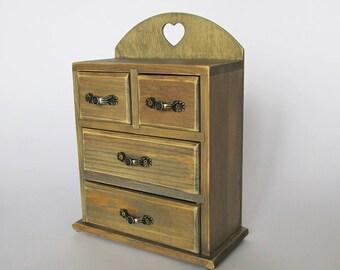 Jewelry Box Girls Box Jewelry Storage Girls nursery decor  Wooden keepsake box Girls  Organizer   Jewelry box Gift box Jewelry Chest