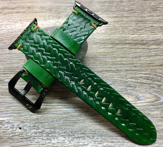 Apple Watch Band | Apple Watch Strap | Leather Craving Art Watch Band | Craving Art Watch Strap For Apple Watch 38mm & Apple Watch 42mm