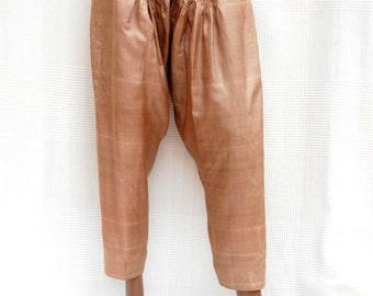 Indian trousers beige, unisex harem pants, beige Indian pants, ethnic pants, wide-leg pants, Indian Crafts