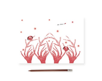 Fish and coral card