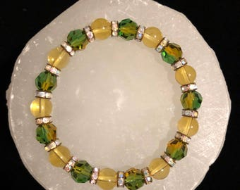 Citrine & Swarovski Healing Gemstone Bracelet