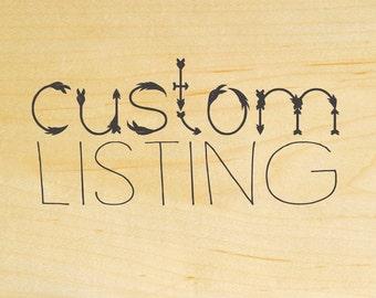 Custom listing for Lisa Corkins