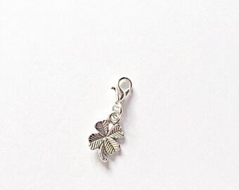 Silver Good Luck Charm, Good Luck, Luck Charm, Planner Charm, Good Luck Charm, Silver Charm, Four Leaf Clover, Lucky Charm, Good Luck Gift