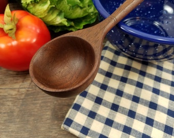 Hand Carved Wooden Spoon, Wooden Serving Spoon, Cooking Utensil, Wooden Kitchen Utensil, Serving Spoon, #008-W