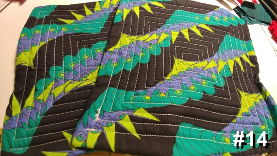 CHARITY (Black with purple, yellow & green HOT PAD set of 2 #14)