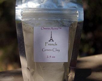 Facial Clay - French Green Clay 2.5 oz.