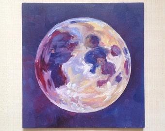 Indigo Moon - archival quality print of original oil painting