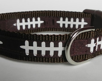 Football Laces Dog Collar