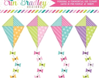 80% OFF SALE Kite Clipart Commercial Use Clip Art Graphics Instant Download
