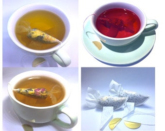 Gift for Girlfriend 3 Goldfish Tea bags Selection tea bags with quotes tea gift Make a Wish Gift for women Gift For Her tea lover gifts