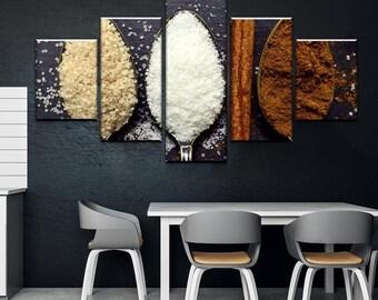 Sugar Canvas Set - Kitchen Decor