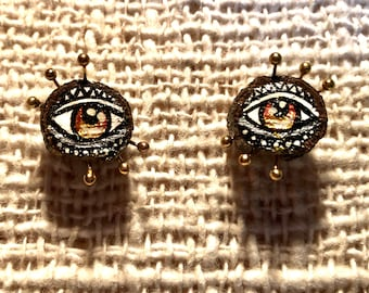 Hand-painted Eye Earrings from Inspired Planet