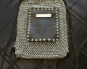 Chainmail Drawstring Backpack