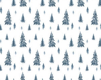 Organic cotton Crib sheets and Mini crib sheets including chicco lullago 4moms Bloom Baby Nuna Sena etc Blue Pine trees forest woods blue