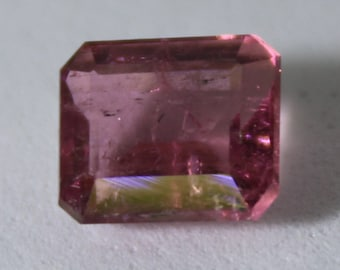 Red Tourmaline or Rubellite 2.00ct,Octagon Shape,Si Clarity,Nice Red,October Birthstone,8th Wedding Anniversary Gem,Sourced Afghanistan