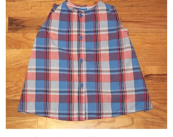 Plaid Cotton Summer Dress Baby Girl 12-18 mo.