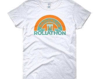 Brooklyn Rollathon   Retro Roller Derby Shirt   Women's short sleeve t-shirt