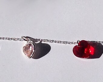 "8"" Sterling Silver, Cubic Zirconia and Swarovski Drops Bracelet"