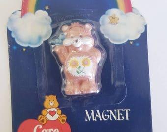 Vtg 80's Care Bears Magnet Friend Bear daisy