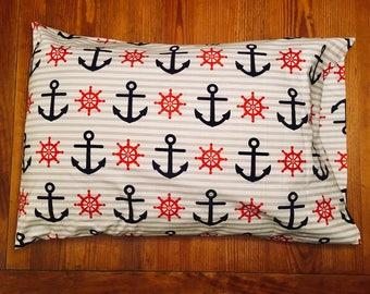 Anchor & Ship Wheel Pillowcase