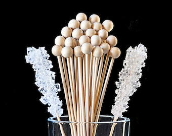 "Rock Candy Sticks, Cake Pop Sticks, Marshmallow Pop and - 6"" size (25 count)"